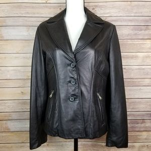 Guess Leather Jacket Size Medium